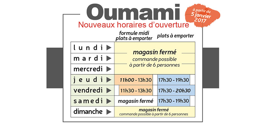 horaires hiver 2017